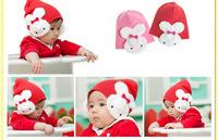 1 Pcs baby cap Cartoon rabbit Cotton infant kids hats children baby hat,Free shipping
