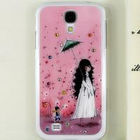 Cartoon Cute Girl handmade 3D Rhinestone Bling diamond case for Samsung Galaxy S4 i9500