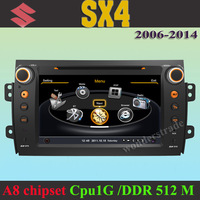 Car DVD Player GPS navigation Radio Suzuki SX4  2006-2014 +3G WIFI + CPU 1GMHZ + DDR 512M + v-20 Disc + DVR + A8 Chipset