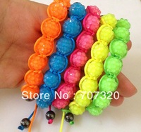 Min.Order ( $9.9 mixed) candy colour Shamballa Bracelets 10mm Resin Ball Shambala Jewelry New Arrivel Mix Colors Options Bs7141A