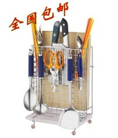Stainless steel multifunctional tool holder chopsticks rack shovel spoon rack shelf