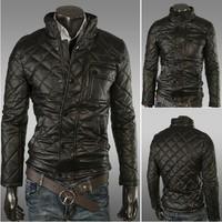 Free shipping Autumn and Winter Men's long sleeve  pattern design zipper jacket Casual short jacket coat outwear 14JK27
