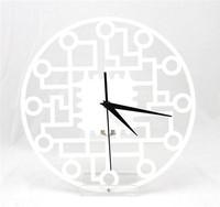 Free shipping Chinese Style Art Home Decoration Mute Acrylic quartz Wall Clock Retail