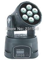 2pcs/Lot,Freeshipping 7PCS*12W 4IN1 RGBW MINI LED Moving Head Light,Wash Light,American DJ Light