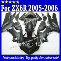Motocycle parts for kawasaki fairings kit 2005 ZX6R fairing 2006 ZX 6R 636 ZX-6R 05 06 all flat black Sv70