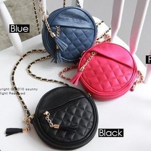 Gossip bags women's handbag candy color sacculus chain bag tassel plaid fashion one shoulder cross-body women's handbag