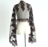 Olivon embroidery cutout lace scarf 5482