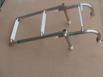 Yacht ladder stainless steel folding ladder glazed steel marine ladder