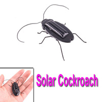 Freeshipping Funny Solar Power Energy Black Cockroach Bug Toy Children wholesale