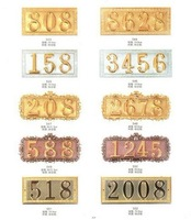 Zinc alloy aluminum housing house number plate number cards upscale house brand metal signs