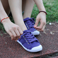2013 female low canvas shoes single shoes solid color canvas shoes lovers shoes