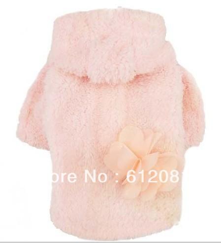 Super barato cachorro promoção pet inverno cão pequeno clothescoat quente fleece jaqueta rosa 10 pçs/lote(China (Mainland))