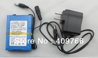 Portable Super DC12680 12V 6800mAh Rechargeable Lithium Battery Batteries Pack For CCTV Camera Free Shipping