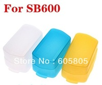 100lot Free shipping 3 in 1 color  B600  430EX 580EX  Flash CAP Diffuser BOUNCE Cover kit  Soft Box For Canon Nikon speedlite