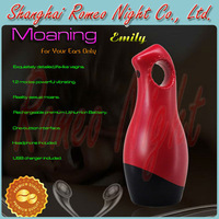YouCups Moaning Grace,Reality Interactive Sexual Moans Massager,Tight Soft Jelly & Super Stretchy Masturbator. --Red.