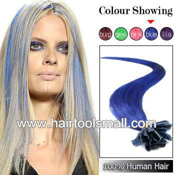 """20"""" 22"""" Keratin Nail Stick Nail Tip Virgin Remy Human Hair Extensions ..."""