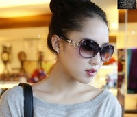 Women's fashion sunglasses big box anti-uv glasses star elegant all-match sunglasses female 158