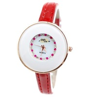 Min.order is 1pcs (mix order)  New women's round crystal wrist skin with a watch - 64414
