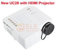 Free Shipping Brand New UC28 Projector Mini Home Theater LED Digital Video Projetcor Support HDMI AV VGA USB SD