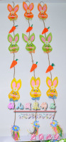 For dec  oration material Christmas curtain new style cartoon rabbit hangings