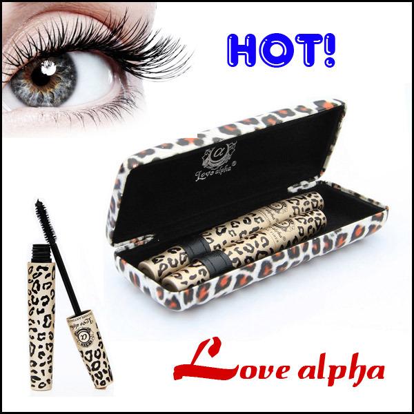Leopard Eyelash Extension Lengthening Transplanting Natural Fiber Mascara Grower Kit with Panther Case(China (Mainland))