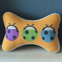 Bone Car Travel Seat NeckRest Headrest Pillow Cushion 1 Pcs Three Ladybugs PQ811