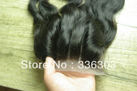 INVISIBLE BLEACHED KNOTS SILK BASE TOP CLOSURE,brazilian wavy hair swiss lace 3 way part lace closure body wave ,1B#,130 density