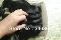 SILK BASE TOP CLOSURE,pervian wavy hair swiss lace 3 way part lace closure body wave and loose wave ,1B#,130 density