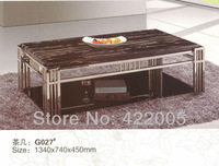 Minimalist modern domesticated living room furniture living room coffee table marble coffee table thick stainless steel frame