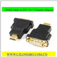 DVI-I Female(24+5 pin) to HDMI Male(19-pin) Monitor HDTV Adapter