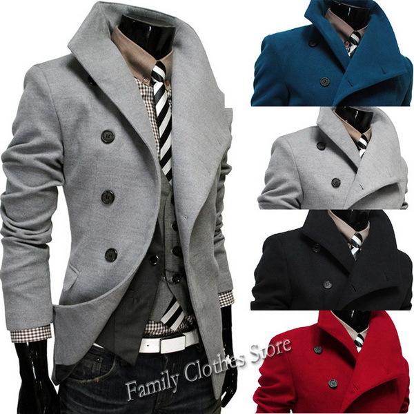 Men's Trench Coats Wholesaler Rebecco Sells Hot New Black/Gray ...