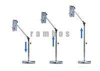 Tablet PC Floor Stand Holder with Long Goose Neck for ipad 2 3 4, 10pcs/lot free shipping