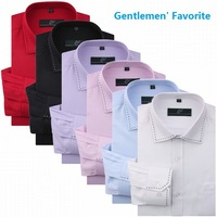 6 Colors!2013Free shipping New Hot Men's Casual Slim Shirt Long Sleeve party shirts 5 sizes S, M, L, XL, 2XL, 3XL