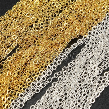 10M Hot Special Color Acrylic Nail Art Tip Design Tiny Line Metal Chain  DIY Decal Decoration Gold/Silver
