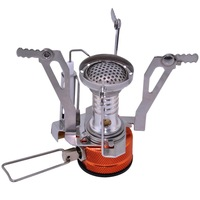 Outdoor BBQ Camping Portable Mini Piezo ignition Fission Gas Furnace Stove Burner Dentation