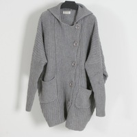 Wholesale 2013 EU US brand Women's fashion loose plus size wool sweater cardigan overcoat free shipping