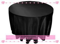 Black Satin Cheap 90'' round wedding table cloth