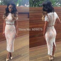 New Womens' Elegant Summer Sleeveless Square Collar Back Full Zipper Bodycon Knee-Length Party Pencil Dress