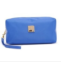 Free Shipping 2013 European women travel cosmetic cases folding make up bag  candy color small bags x 8 color