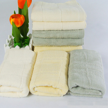 Free shipping Elegant luxury Gift towel set 100% cotton 34*72cm  #white