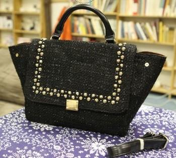 2013 new high quality American brand rivit leather women handbag fashion classic Phantom designer bag freeship promotion 86324