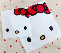 """""""Hello kitty print"""" food packing self adhesive plastic bags,gift packing bag 14cmx17cm Free Shipping Wholesale"""