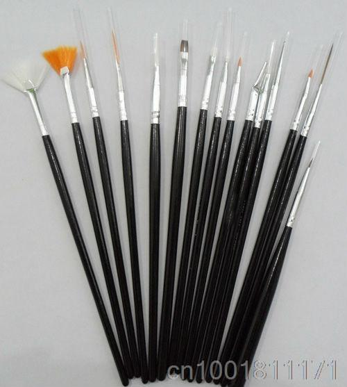 Hot 15 pcs Easy Handle Nail Art Design Brush Set Painting Pen YNA-0077(China (Mainland))