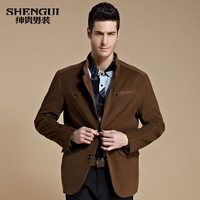 New2013 Medium-long jacket men's clothing 2013 autumn business casual outerwear male dishabille stand collar jacket male