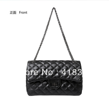 2013 spring and summer fashion women's handbag plaid chain bag shoulder bag messenger bag vintage