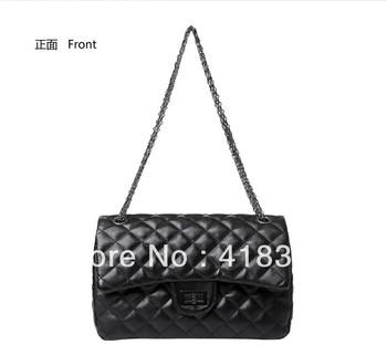 2013 spring and summer fashion women's handbag plaid chain bag shoulder bag messenger bag vintage