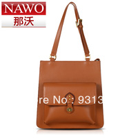 Nawo 2013 women's handbag british style vintage cowhide handbag messenger bag