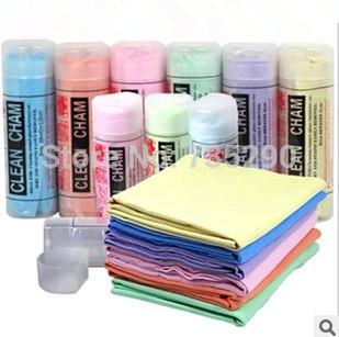 Free Shipping 10pcs/lot small synthetic deerskin towel PVC deerskin towel Polishing Scrubing Waxing Cloth Hand Towel