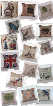 Fashion New Linen Printing Cover for Throw Pillow/Lumbar Pillow/Sofa Cushion/ Sleeping Pillow
