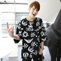 New 2013 Ssur ktz loose o-neck lovers hba print t-shirt  HBA Hood By Air